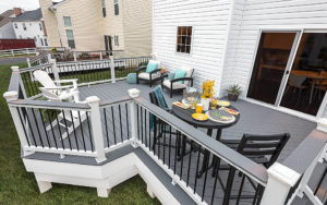 Trex Railing and Grey Deck